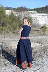 Sukne - ľanová sukňa Mína- AKCIA! - 11747868_