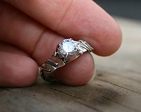 Prstene - Zásnubný lístočkový, lesný - 11748525_