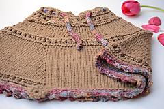 Detské oblečenie - Dievčenské pončo MALÁ PILAR - ZĽAVNENÉ, 100% merino - 11747926_