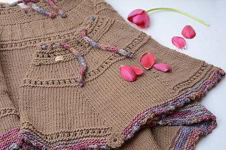Detské oblečenie - Dievčenské pončo MALÁ PILAR, 100% merino - 11747931_