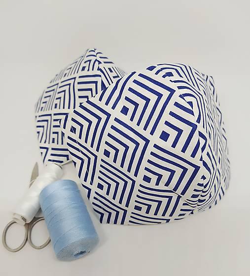 Rúško modré pásiky