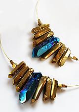 Náhrdelníky - Slnečný paprsok, krištáľový náhrdelník - 11749043_