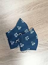 Rúška - Modrotlačové rúško PRE MAMU A DCÉRU 2-vrstvové na vkladanie - 11749506_