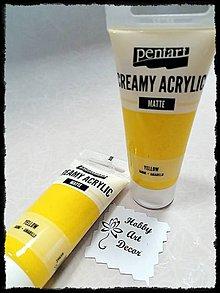 Farby-laky - Akrylová farba krémová matná žltá 60 ml - 11746411_
