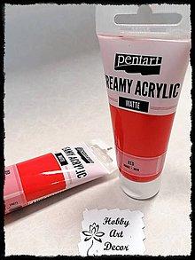 Farby-laky - Akrylová farba krémová matná červená 60 ml - 11746415_