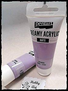 Farby-laky - Akrylová farba krémová matná levendula 60 ml - 11746420_
