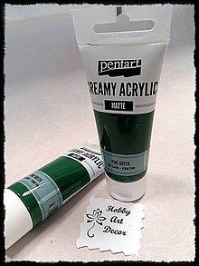 Farby-laky - Akrylová farba krémová matná jedlovozelená 60 ml - 11746459_