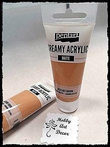 Farby-laky - Akrylová farba krémová matná lieškovohnedá 60 ml - 11746467_