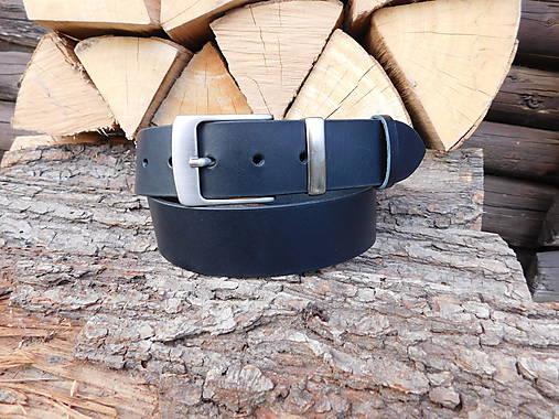 Kožený opasok 4 cm - Black