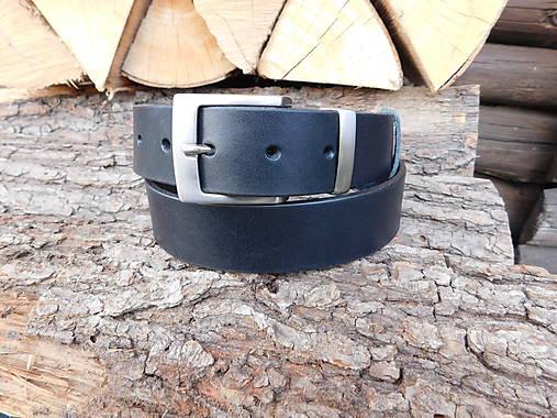 Kožený opasok 3,5 cm - Black