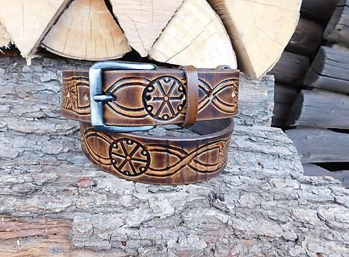Kožený opasok 4 cm - Perún