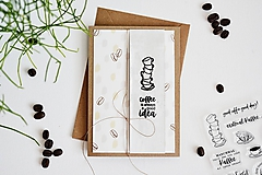 Papiernictvo - Gratulačný pozdrav - Coffee is always a good idea - 11752206_