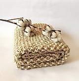 Textil - Béžová detská deka - 11752639_