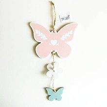 Polotovary - Dekorácia na zavesenie, motýľ - 11752094_