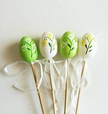 Polotovary - Zápich, vajíčka s kvetinkami, sada 4 ks - 11752738_