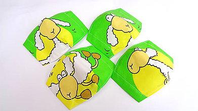 Rúška - Detské bavlnené rúška ovečky - 11752857_