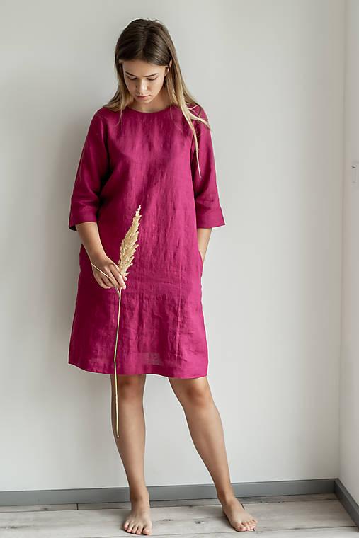 Šaty - Ľanové šaty Monika - 11754712_