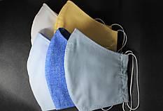 Rúška - Pánsky set 5ks - rúško s otvorom pre filter, dvojvrstvové, bavlnené - 11754412_