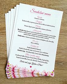 """Papiernictvo - Svadobné menu, slávnostné menu ružové,""""príbeh lásky"""" - 11752027_"""