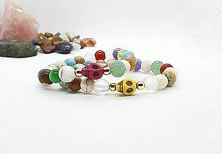 Náramky - Ochranný náramok - dievčenský z rôznych prírodných minerálov - 11754128_