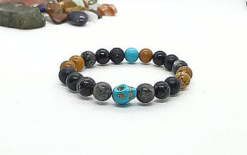 Náramky - Ochranný náramok - chlapčenský z rôznych prírodných kameňov - 11754146_