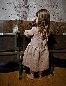 Detské oblečenie - detské ľanové šaty - 11754345_