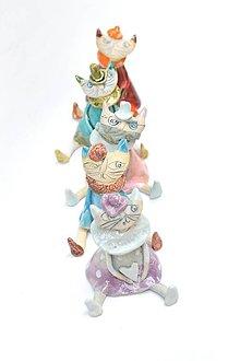Dekorácie - Mačka figúrka s rúškom alebo bez - 11751608_