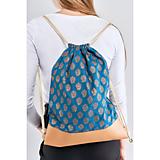 Batohy - Exkluzívny ruksak vak bavlna/ekokoža - 11753367_