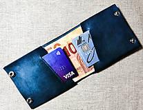 Peňaženky - Tenká slim kožená peňaženka Piskvor - 11750771_