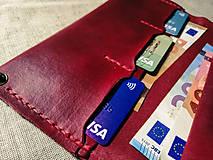 Peňaženky - Veľká dámska kožená peňaženka Pirula (Červená) - 11751331_