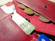 Peňaženky - Veľká dámska kožená peňaženka Pirula (Červená) - 11751340_