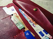 Peňaženky - Veľká dámska kožená peňaženka Pirula (Červená) - 11751342_