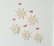 Dekorácie - Háčkované hviezdičky - 11751770_