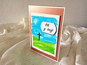 Papiernictvo - Veľkonočná pohľadnica On je živý - 11751517_