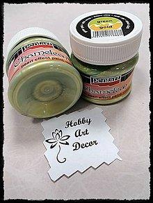 Farby-laky - Akrylová farba chameleon perleťová zelená-zlatá - 11754195_