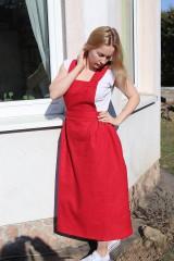 Sukne - Ľanová sukňa na traky - 11753629_