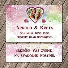 Papiernictvo - Svadobné oznámenie a pozvánka k svadobnému stolu (s fotkou) - 11754266_