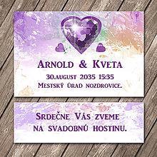 Papiernictvo - Svadobné oznámenie a pozvánka k svadobnému stolu (Diamond heart) - 11754267_