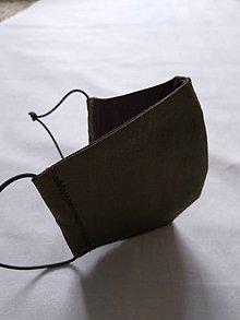 Rúška - Rúško tvarované khaki - 11757256_