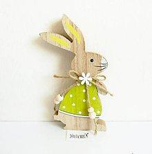 Polotovary - Veľkonočná dekorácia, zajac v zelenom, 15 cm - 11755758_