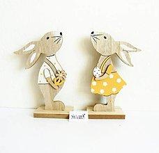 Polotovary - Veľkonočná dekorácia, zajac a zajačica - 11755827_