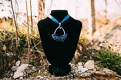 - pletený prívesok z lapis lazuli - 11757453_