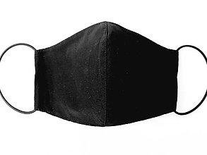 Rúška - Čierne rúško 2-vrstvové, 100% bavlna - 11756757_