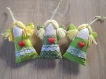 Dekorácie - Levanduľové anjeliky zelené - 11756952_