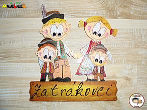 Tabuľky - Menovka - rodinka v krojoch chlapci - 11758347_