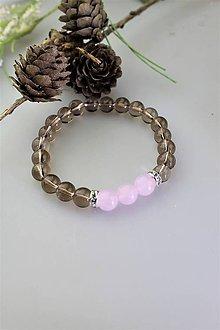 Náramky - ruženín,záhneda náramok - 11755323_
