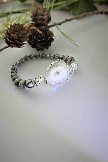 Náramky - jaspis a achátová drúza náramok zo šerosveta - 11755658_