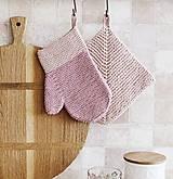 Úžitkový textil - Kuchynská rukavica - ružová III - 11756240_