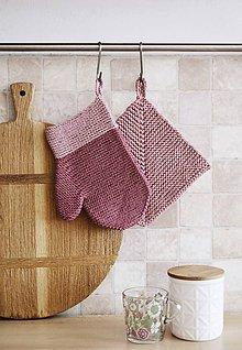 Úžitkový textil - Kuchynská rukavica - ružová II - 11756227_