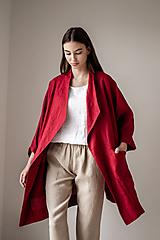 Kabáty - Ľanový kabát America - 11758028_